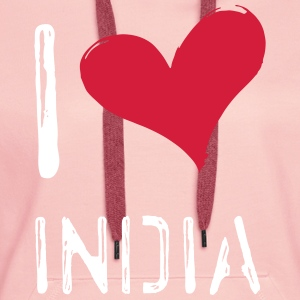 I love India - Women's Premium Hoodie