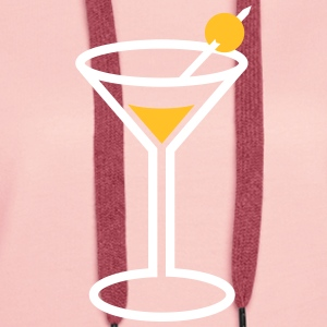 Martini Cocktail Glass - Women's Premium Hoodie