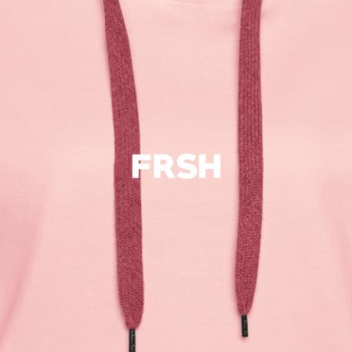 FRSH BLANC - Sweat-shirt à capuche Premium pour femmes