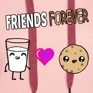 Milk and Cookie Friends im Kawaii Design - Frauen Premium Hoodie