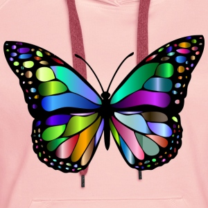 Colorful butterfly - Women's Premium Hoodie