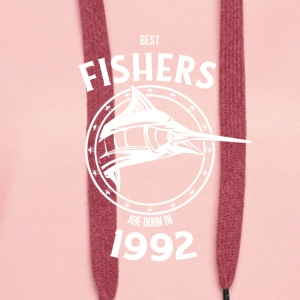 Present for fishers born in 1992 - Women's Premium Hoodie
