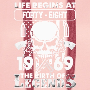 1969 the birth of the Legends shirt - Women's Premium Hoodie