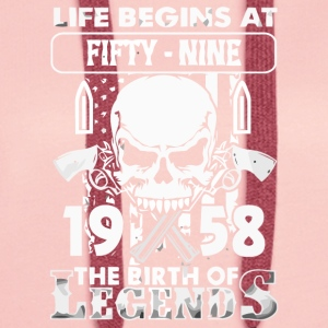 1958 The birth of Legends shirt - Women's Premium Hoodie