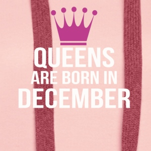 queens are born in december pink - Frauen Premium Hoodie