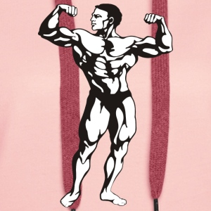 Oldschool Bodybuilding GOLIATH WEAR - Premium hettegenser for kvinner