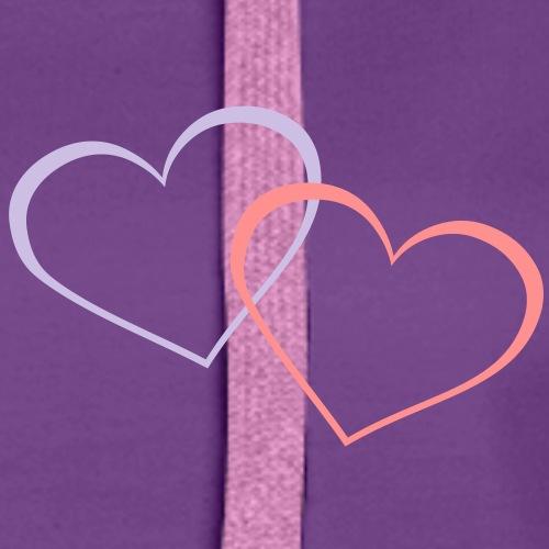 Herz Herzen Liebe Valentinstag - Frauen Premium Hoodie