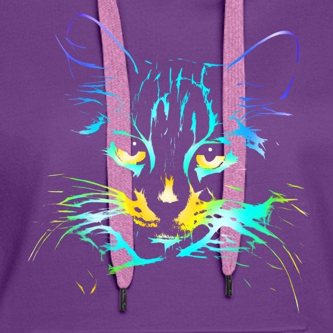 Vorschau: color kitty - Frauen Premium Hoodie