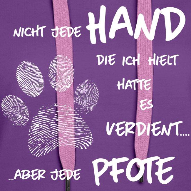Vorschau: Hand Pfote Hund - Frauen Premium Hoodie