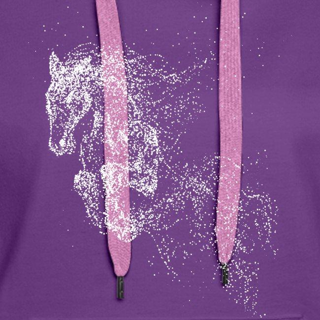 Vorschau: jumping horse white - Frauen Premium Hoodie