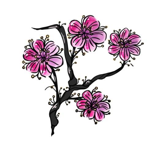 Flower (日本庭園) - Dame Premium hættetrøje