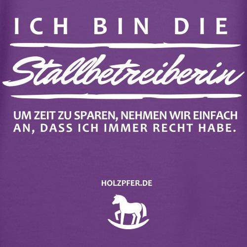 Stallbetreiberin - Frauen Premium Hoodie