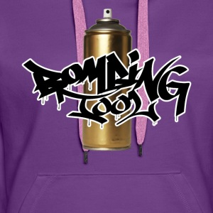 Oro Spray Can Bombing Strumento - Felpa con cappuccio premium da donna