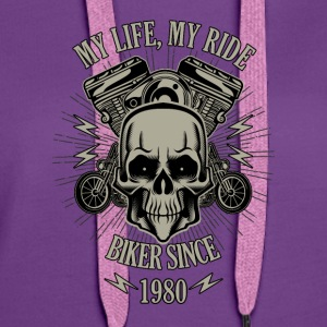 Gift for Biker - Year 1980 - Women's Premium Hoodie