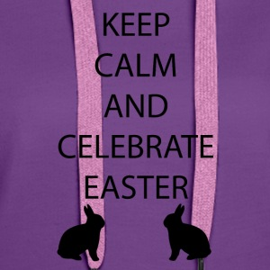 Easter Keep Calm - Women's Premium Hoodie