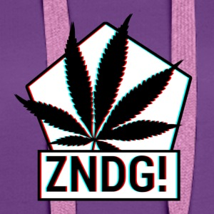 Ignition! ZNDG! cannabis leaf - Women's Premium Hoodie