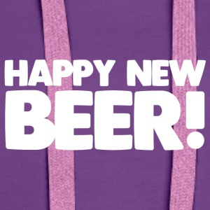 Happy New Beer! - Sweat-shirt à capuche Premium pour femmes