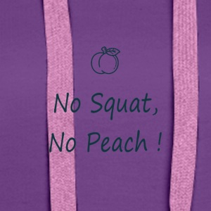 No squat, no peach in blue - Sweat-shirt à capuche Premium pour femmes