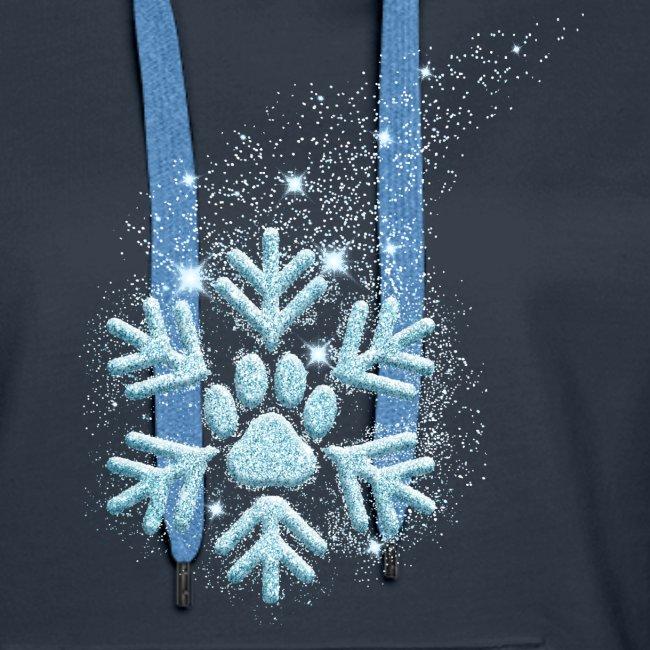 Vorschau: dog paw snowflake - Frauen Premium Hoodie