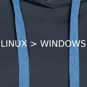 Linux Greater Than Windows - Women's Premium Hoodie