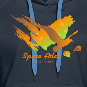 Space Atlas T-Shirt Autumn Leaves - Dame Premium hættetrøje