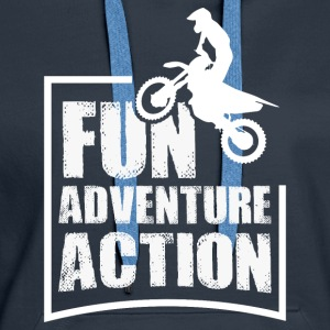 Enduro FUN ADVENTURE ACTION - Bluza damska Premium z kapturem