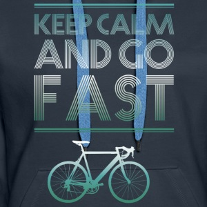 keepcalm bike bike go fast racing - Women's Premium Hoodie