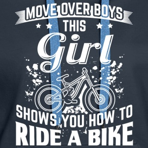 Ridebike MOVE OVER this girl - Women's Premium Hoodie