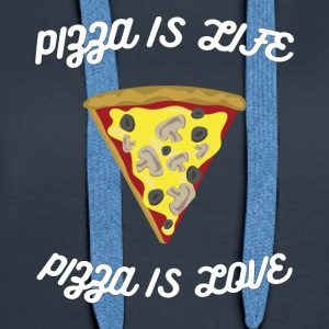 ♥ Pizza is Life ♥ Pizza is Love ♥ Fun T-Shirt - Women's Premium Hoodie