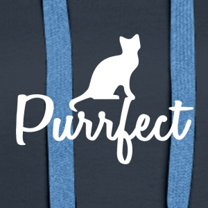 Cats are perfect - gift idea - Women's Premium Hoodie
