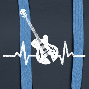 My heart beats for my electric guitar - Women's Premium Hoodie