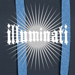 illuminati star fun writing secret swag rays 1 - Women's Premium Hoodie
