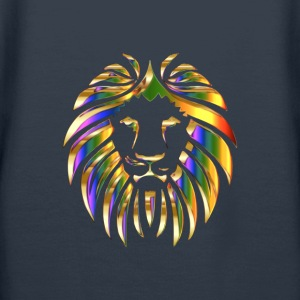 gold rainbow colored lion head - Women's Premium Hoodie