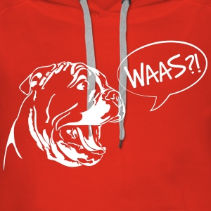 Waas ?! - English Bulldog Puppy - Women's Premium Hoodie