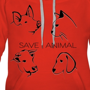 Save Animal - Women's Premium Hoodie