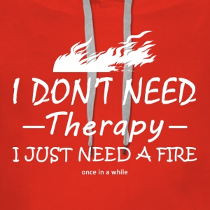 therapy firefighter - Vrouwen Premium hoodie