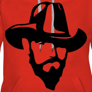 Man With Hat - Sweat-shirt à capuche Premium pour femmes