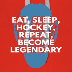 Eishockey: Eat, Sleep, Hockey, Repeat, Become - Frauen Premium Hoodie