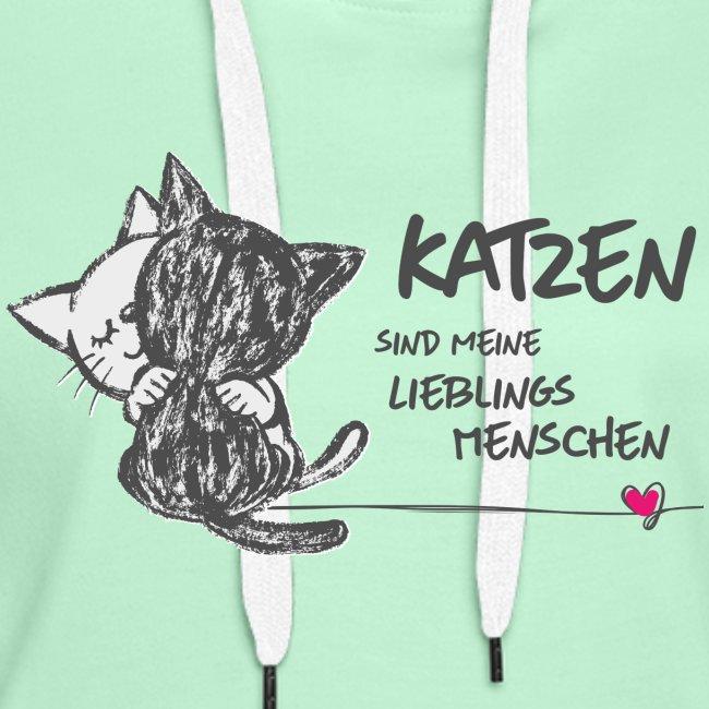 Vorschau: Katzen Lieblingsmenschen - Frauen Premium Hoodie