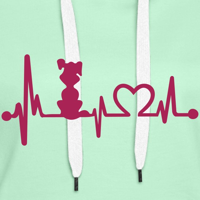 Vorschau: dog heart beat - Frauen Premium Hoodie