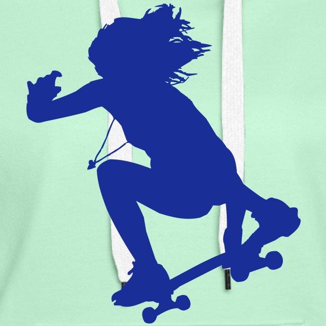 Skate Girl Skateboard Longboard