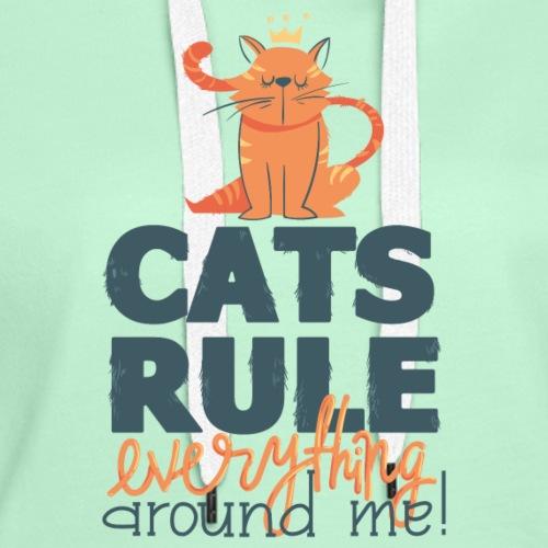 cat rule png - Frauen Premium Hoodie