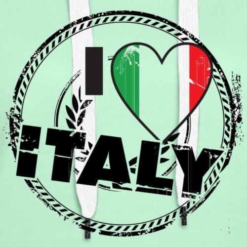 I LOVE ITALY - Sweat-shirt à capuche Premium pour femmes