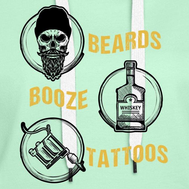 Beards Booze Tattoos Fathers Day Gift