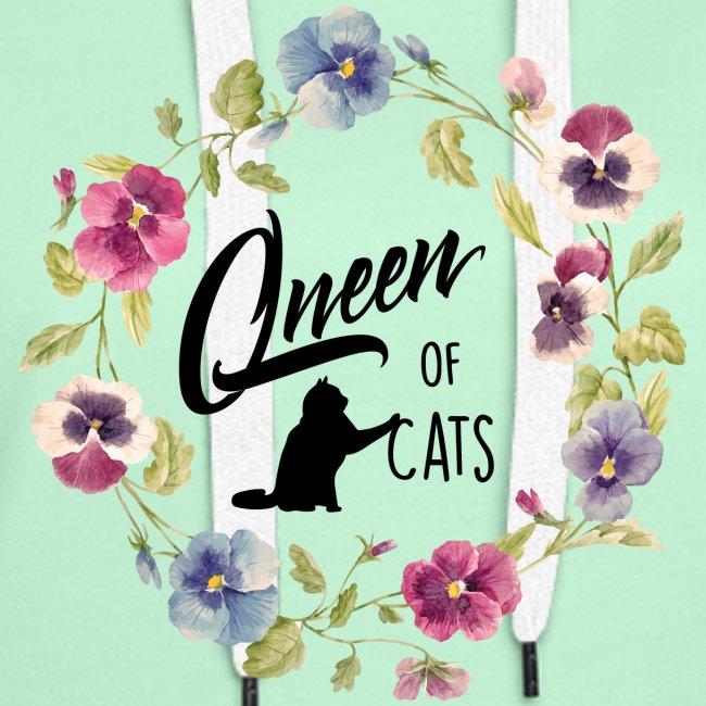 Vorschau: queen of cats - Frauen Premium Hoodie