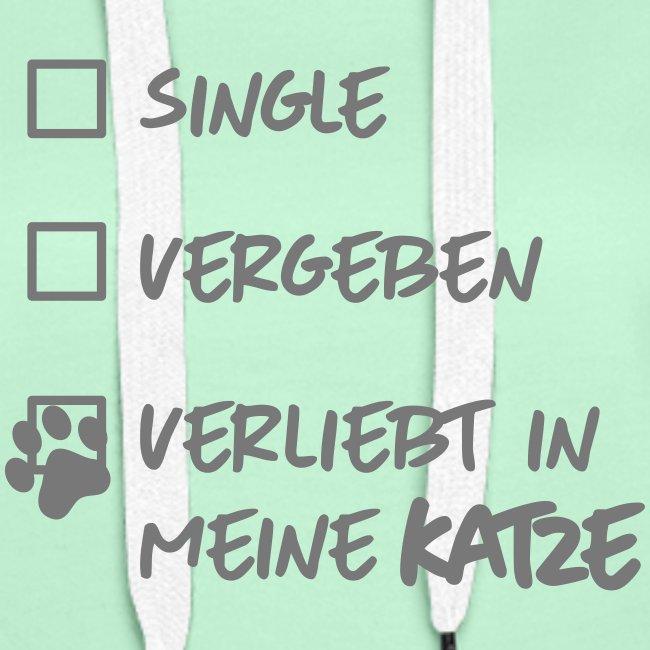 Vorschau: single verliebt katze - Frauen Premium Hoodie