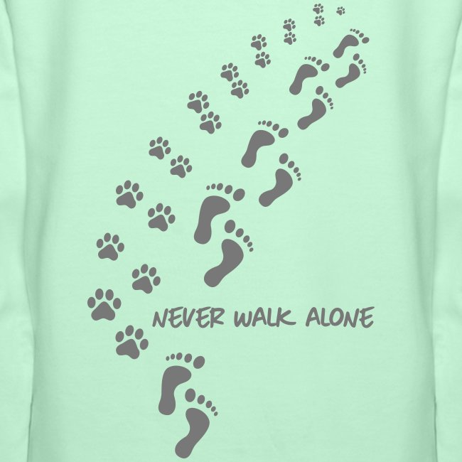 Vorschau: never walk alone dog - Frauen Premium Hoodie