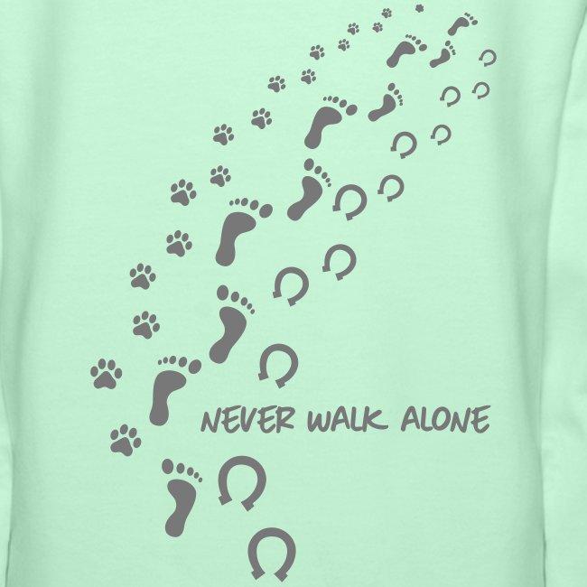 Vorschau: never walk alone hund pferd - Frauen Premium Hoodie