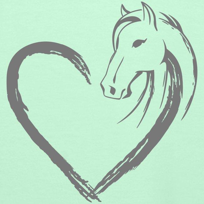 Vorschau: Pferde Herz - Frauen Premium Hoodie
