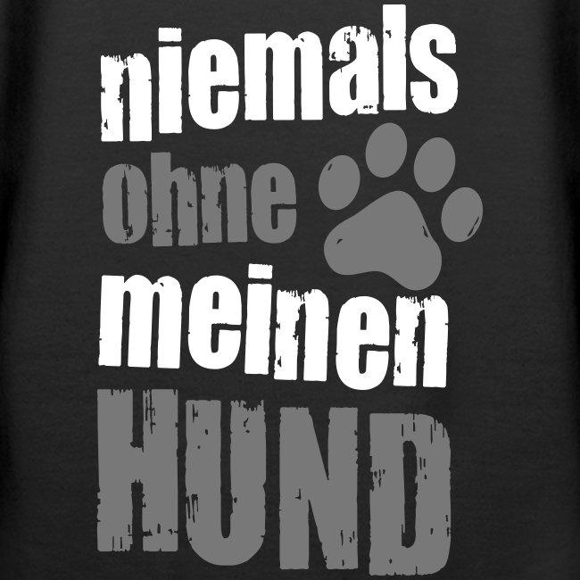 Vorschau: niemals ohne meinen hund - Frauen Premium Hoodie